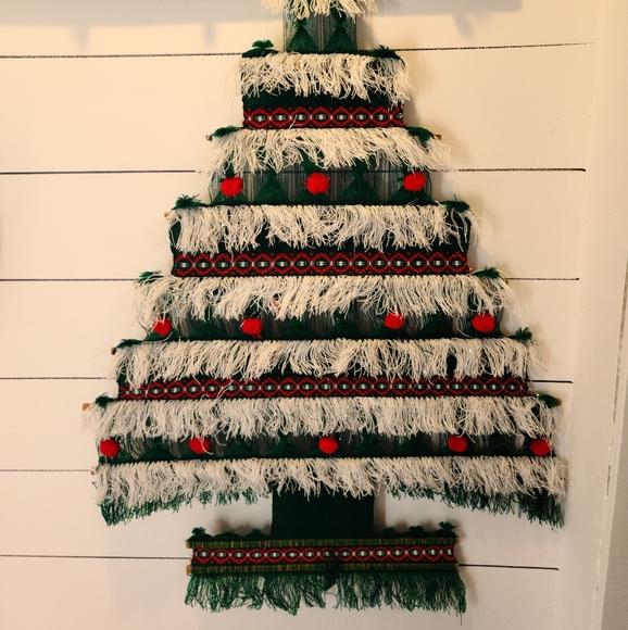 Vintage Christmas Tree Macrame Hanging Ecuador